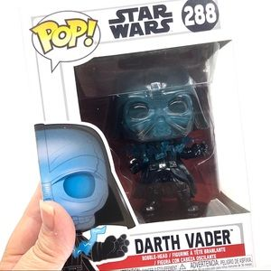 Star Wars Darth Vader Electrocuted GLOW #288 Pop!
